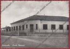 BERGAMO FONTANELLA 01 SCUOLA MATERNA Cartolina viaggiata 1953 REAL PHOTO