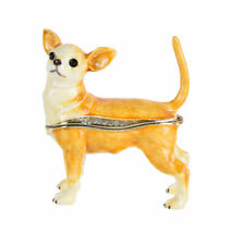 Chiwawa Hund Pillendose Schmuckdose Dose Pillenbox Box Dose Pille Hundefigur