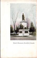 Brant's Monument Brantford Ontario ON Unused Vintage Postcard E15