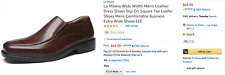 Wide Men's Brown Leather Dress Shoes 8.5
