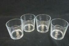 Lot of 4 IKEA  Candle Holders Votive Clear