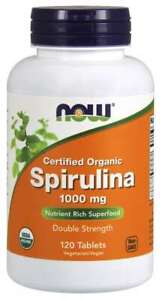 Now Foods Spirulina 1000 mg Organic 120 Tablets Superfood 05/22EXP
