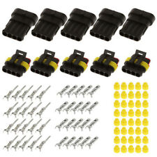 15 Kits 2 3 4 Pins Way Sealed Electrical Waterproof Wire Connector Plug Terminal