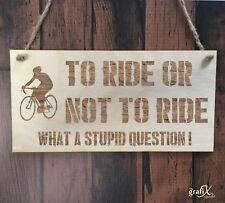 Cotización de paseo en bicicleta ciclismo signo de placa de madera grabadas con láser pq111