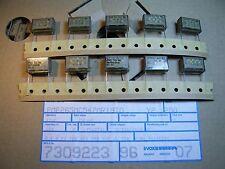 10x 47nF 250VAC PCM=20.3mm METALLIZED PAPER CAPACITORS EVOX RIFA PCM265
