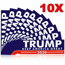 10X Keep America Great Again Car Donald Trump President 2020 Bumper Stickers