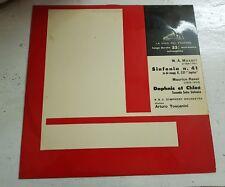 W.A. MOZART CONCERTO sinfonia n.41 Daphnis et Chloè Lp 33 GIRI MUSICA CLASSICA