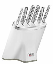 Global White Zeitaku Shiro Knife Block Set  7 Piece RRP $799.00 Japanese  Knives