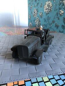 Altes Militärspielzeug Auto Wagen Metall Tippco Hausser Elastolin 1 Figur