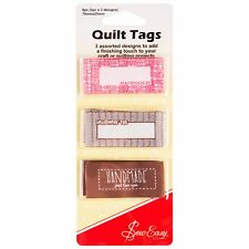 9 QUILT LABELS/TAGS TO ADD THAT FINISHING TOUCH, HAND MADE BY,HANDMADE FOR BNEW