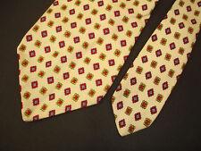Vintage Liberty of London for Raleighs Washington Necktie Cream Red 100% Silk