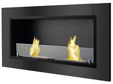 Recessed Wall Ventless Bio Ethanol Fireplace - Lata Black   Ignis