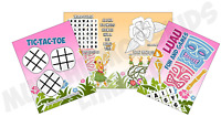 Pack of 12 - Luau Hawaiian Fun and Games Activity Sheets - Party Bag Fillers