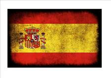 Spain Spanish aged flag metal sign vintage style Spanish flag sign