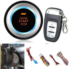 Car Auto One Key Start Button Audible Alarm LED Sensor Light with Remote Control