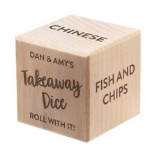 More details for personalised custom wooden dice any occasion message all sides takeaway birthday