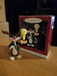 1993 Hallmark Keepsake Ornament Looney Tunes Sylvester & Tweety