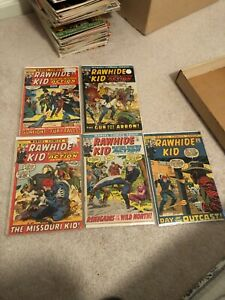 Rawhide Kid Marvel Western lot 5 comics mid grade 94-100 all different