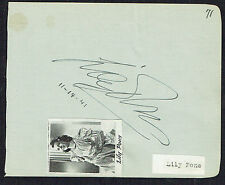 Lily Pons (d. 1976) signed autograph 4x5 Album Page Operatic Soprano Singer