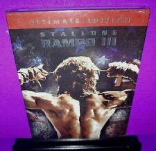 Rambo III (DVD, 2004, Ultimate Edition) Sylvester Stallone Brand New B552