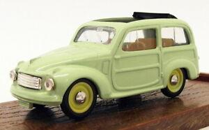 Brumm 1/43 Scale Diecast Model Car R56 - Fiat 500 - Light Green