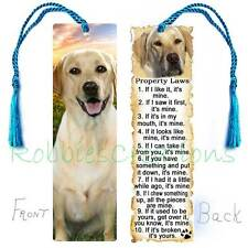 LABRADOR Retriever Large BOOKMARK Tassel Yellow Lab Dog Property RULES Book CARD