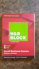 H&R Block Tax Software Premium & Business 2018 -Small Business Owner RED