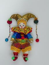 A great toy . 5' clown in vivid costume .Porcelain face and hands. New.