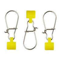 100 Fishing Line Sinker Slider High-strength Stainless Steel Snap Swivel Yellow