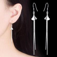 Ladies Holiday Gifts Jewellery 925 Sterling Silver Hook Tassel Cocktail Earrings