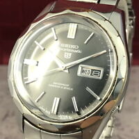 Vintage 1966 SEIKO 5 SPORTSMATIC 6619-9040 Automatic Gray Dial Men's Watch #441