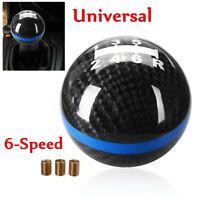 6 Speed Universal Carbon Fiber Manual Gear Shift Knob For Honda Civic DC5