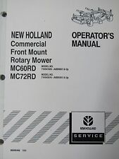 New Holland Operator's Manual for commercial front mount rotary mower 86606448