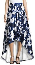 ADRIANNA PAPELL High Low Side Pleat Floral Ball Skirt, Sz:2 Ret:$169 NWT