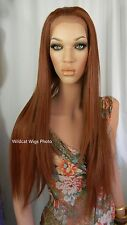 "HEAT OK .. LACE FRONT 32"" Hawaii Wig from Sepia .. GORGEOUS!  Fox Red 130 *"