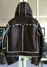 NWT authentic VOYAGE PASSION KING Hooded SHEARLING JACKET sz 50 EUR | 40 US | M