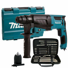 Makita HR2630 240V SDS + 3 modo rotativo martillo perforador + Accesorios Adicionales