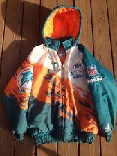 Miami dolphins NFL Logo Athletic Authentic Full Zip Men's Winter Jacket SZ M