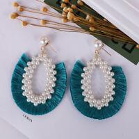Ear Stud Fashion Bohemian Jewelry Pearl Tassel Women Fringe Earring Dangle