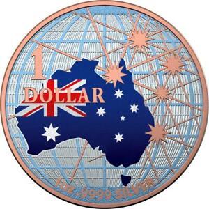 Australia 2020 1$ - Beneath the Southern Skies - Flag - 1 Oz Silver Coin