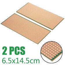 2x Stripboard Veroboard Uncut PCB Platine Single Side Circuit Perf Board Kit CR