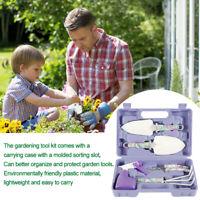 Gardening Hand Tool Garden Kit Set Carrying Case Heavy Duty Stylish Gift 5PC AU