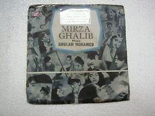 MIRZA GHALIB GHULAM MOHAMED TAE 1353 1977 RARE BOLLYWOOD EP 45 rpm RECORD vg+