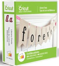 Cricut Cartridge - Library Fonts - 3 Full Fonts with Shadow & Stencil