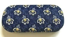 USED VERA BRADLEY EYE GLASS HARD CASE IN MAISON BLUE RETIRED PATTERN