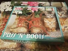 "White Mountain Puzzle 550 Pieces ""Puss 'n' Boots"" Complete Preowned"