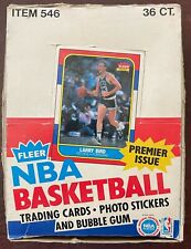 1986 Fleer Basketball Empty Box With 36 Wrappers