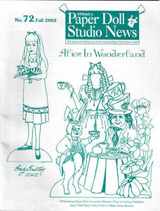 Paper Doll Studio News Magazine Issue #72 Fall 2002 Alice in Wonderland