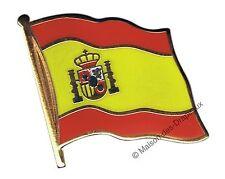 Pin's drapeau Espagne espagnol badge 2x2cm doré