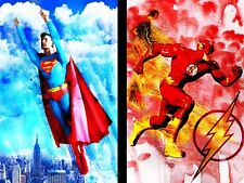 Superman and The Flash 11 x 17 (2) Super hero lot High Quality Posters
